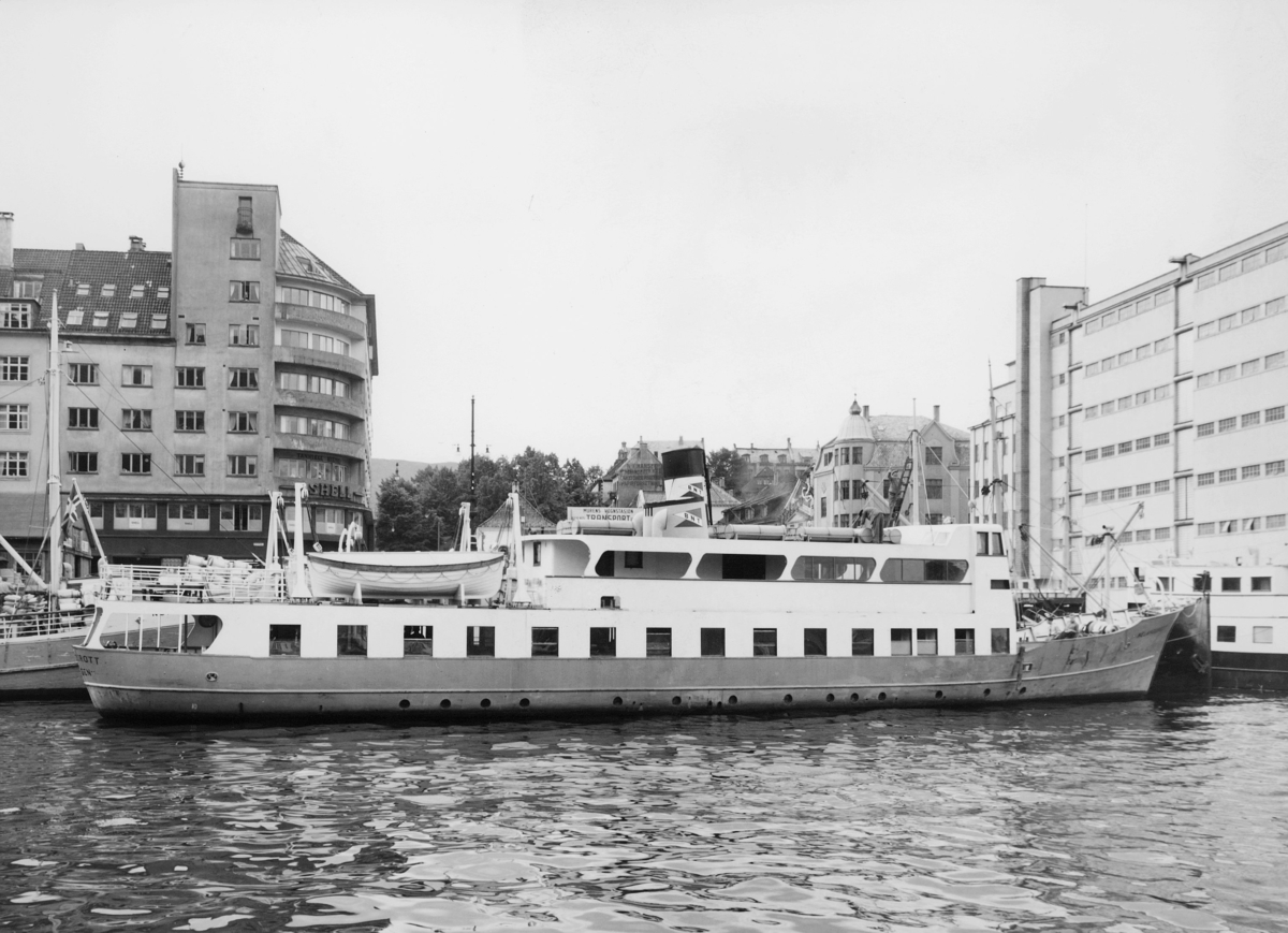 transport båt, eksteriør, M/S Melandsdrott, ved kai