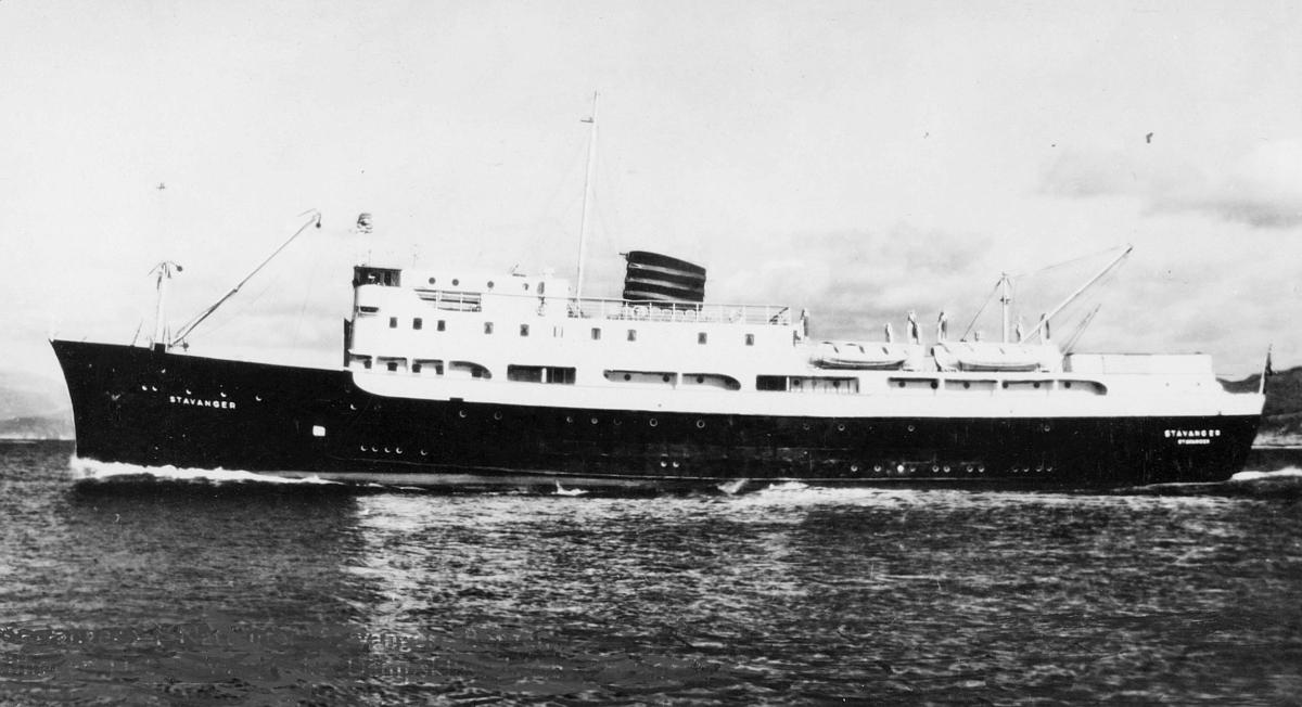 transport båt, eksteriør, D/S Stavanger