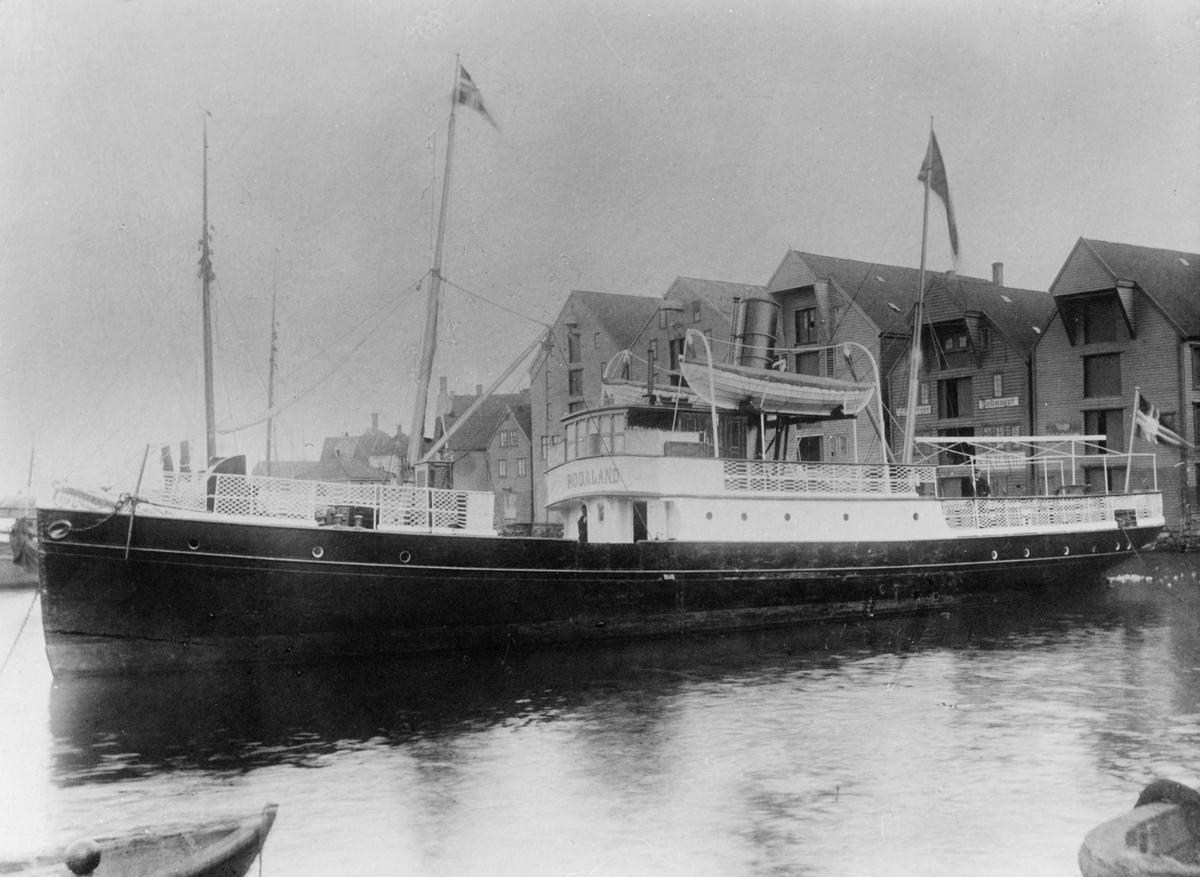 transport båt, eksteriør, D.s. Rogaland, ved havn