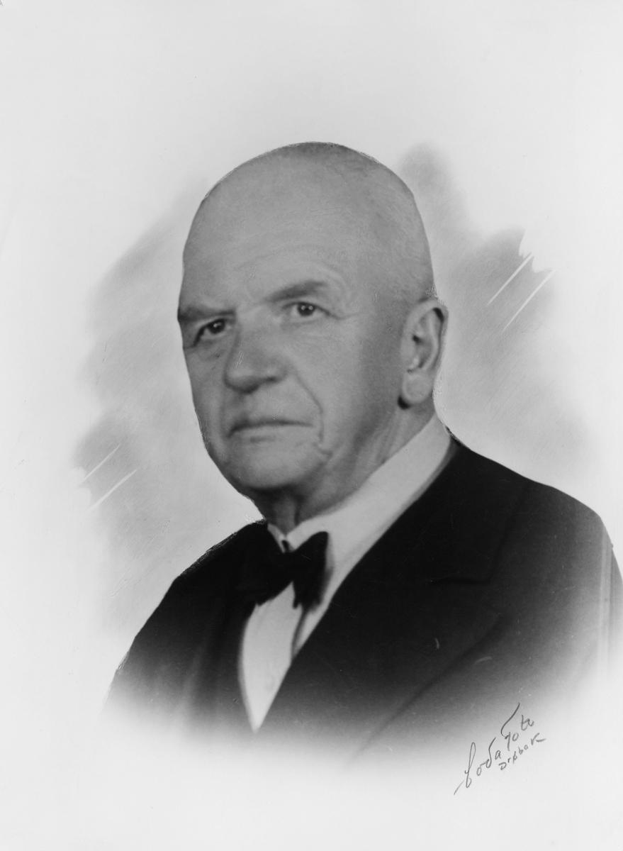 portrett, postmester, Thomas Wilhelm Gundersen