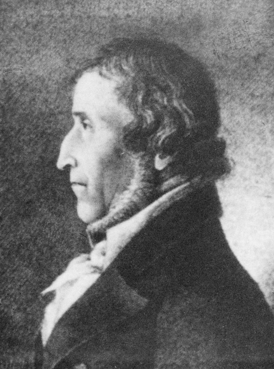 portrett, postmester, løytnant, Johannes Gunnerius Rosenvinge