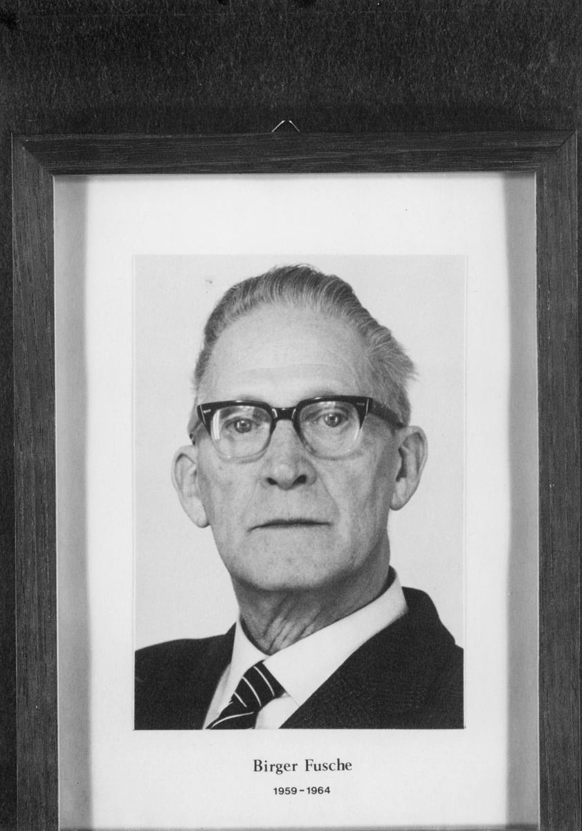 postmester, Fusche Birger, portrett