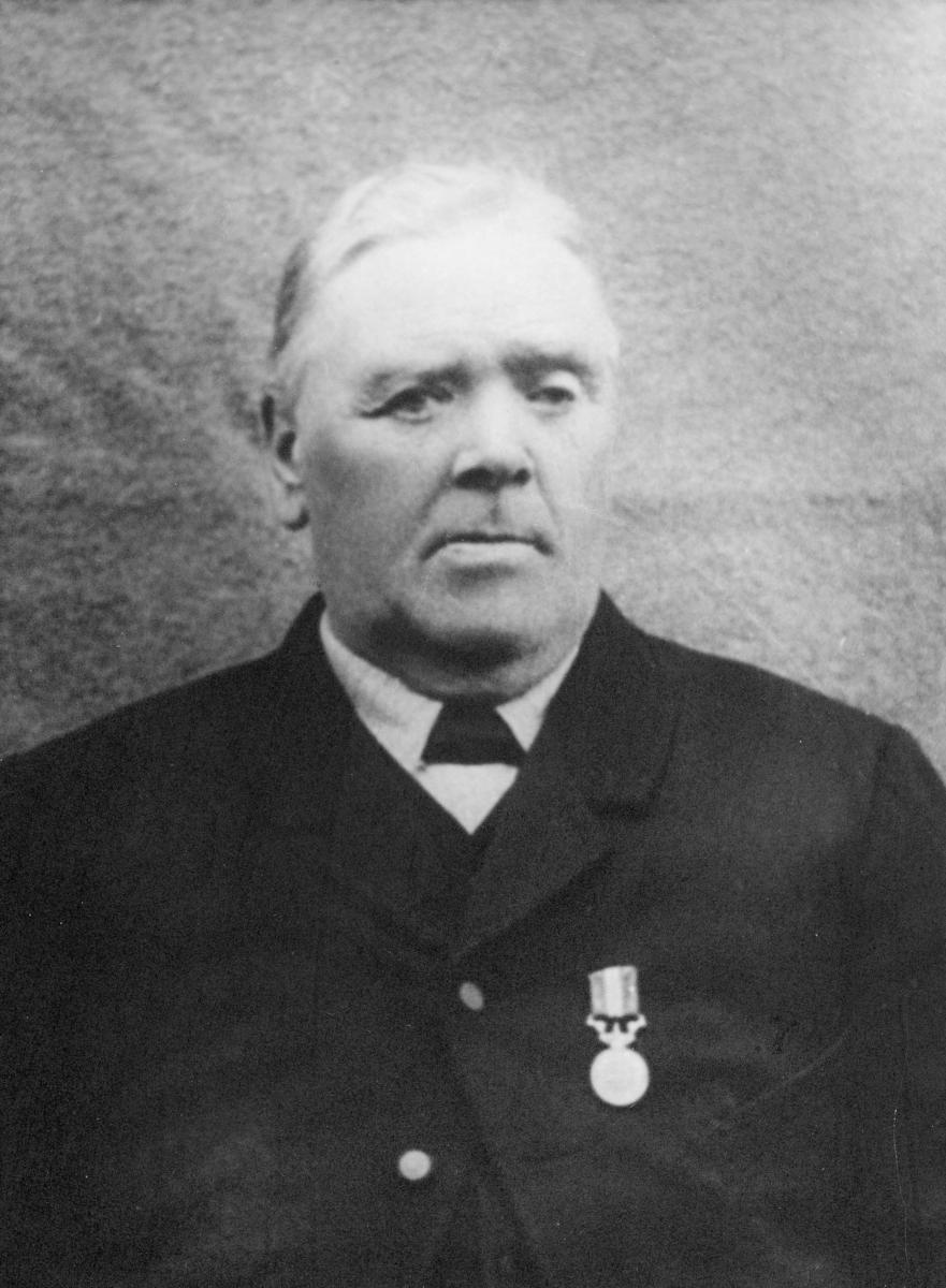 postmester, Jacob Olsen, portrett