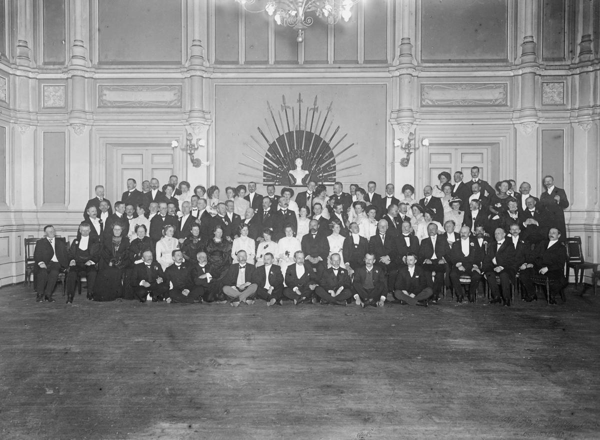gruppebilde, Det Norske Postmannslags 25 års jubileum 24. februar 1909