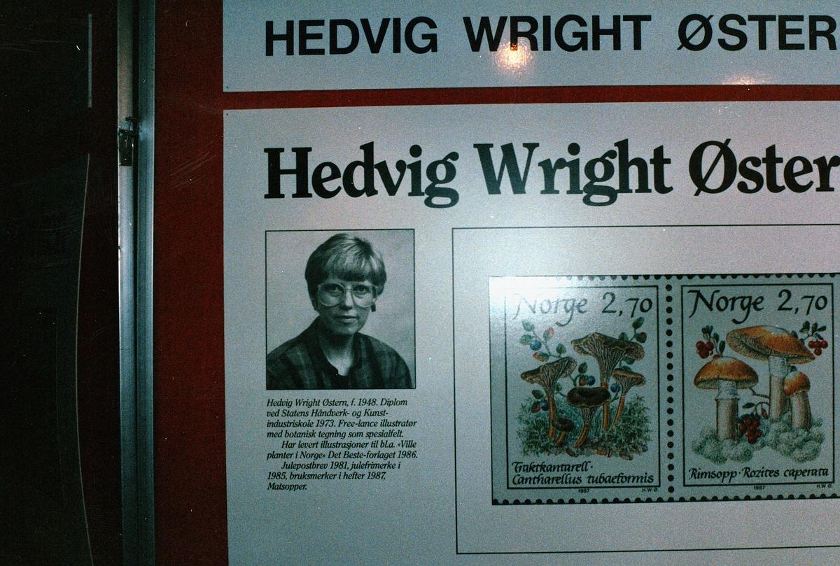 frimerkets dag, Oslo Rådhus, frimerkemotiv av Hedvig Wright Østern