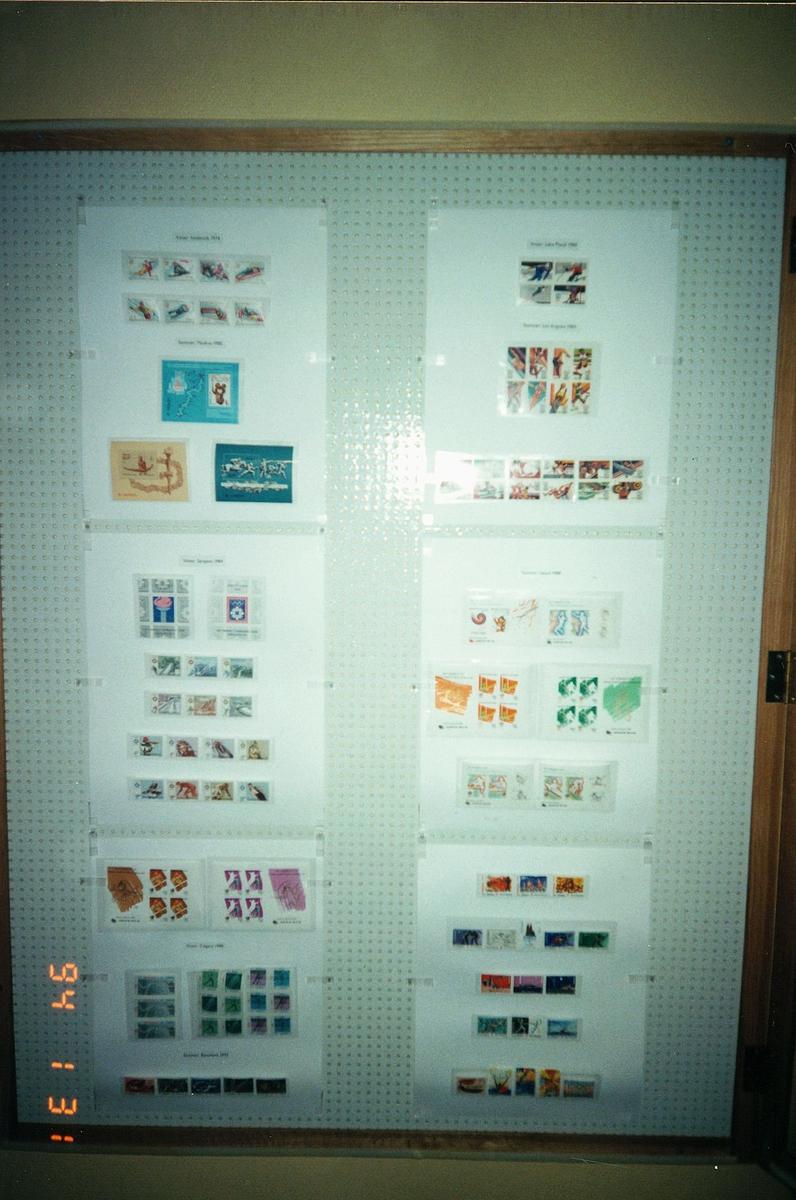 Postmuseet, Oslo, utstilling, OL frimerker fra mange land