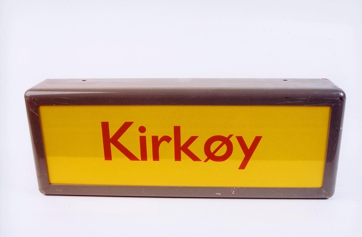 postmuseet, gjenstander, skilt, stedskilt, stedsnavn, Kirkøy