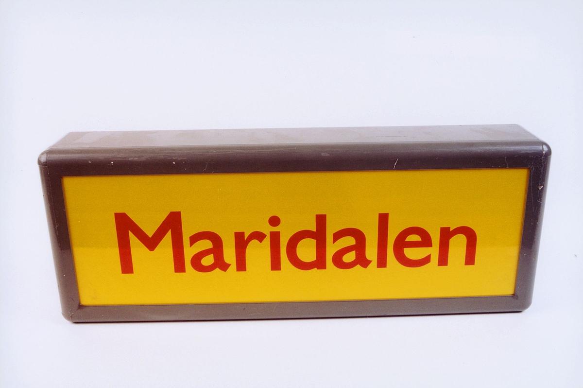 postmuseet, gjenstander, skilt, stedskilt, stedsnavn, Maridalen