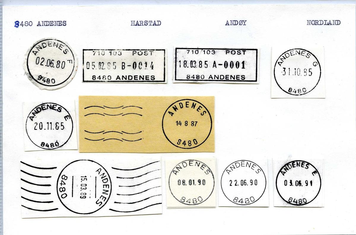 Stempelkatalog,  9480 Andenes, Harstad, Andøy, Nordland