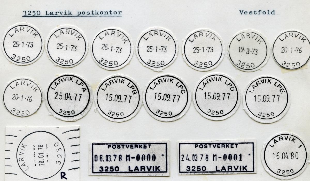 Stempelkatalog 3250 Larvik (Laurvig), Vestfold