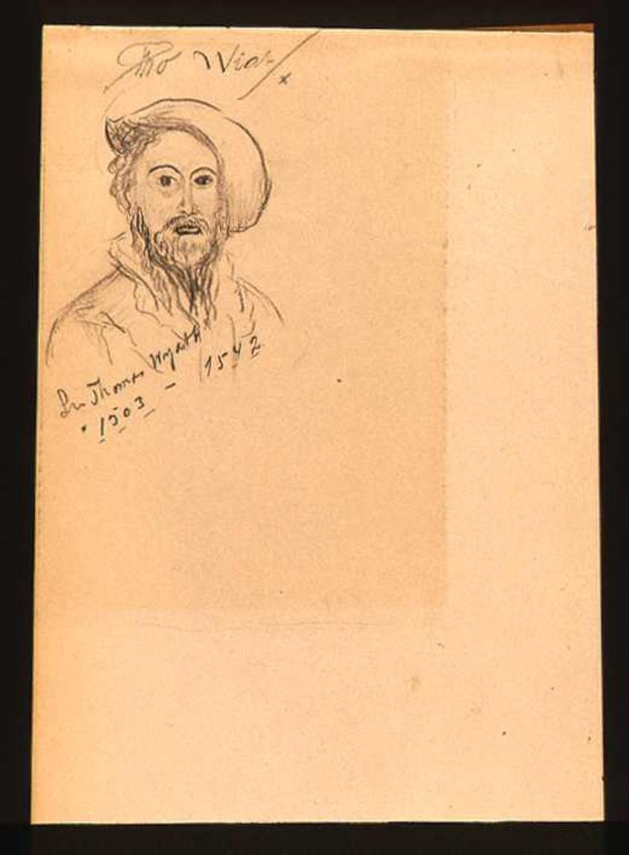 Portrett av den engelske dikter Dr. Thomas Wyatt.
