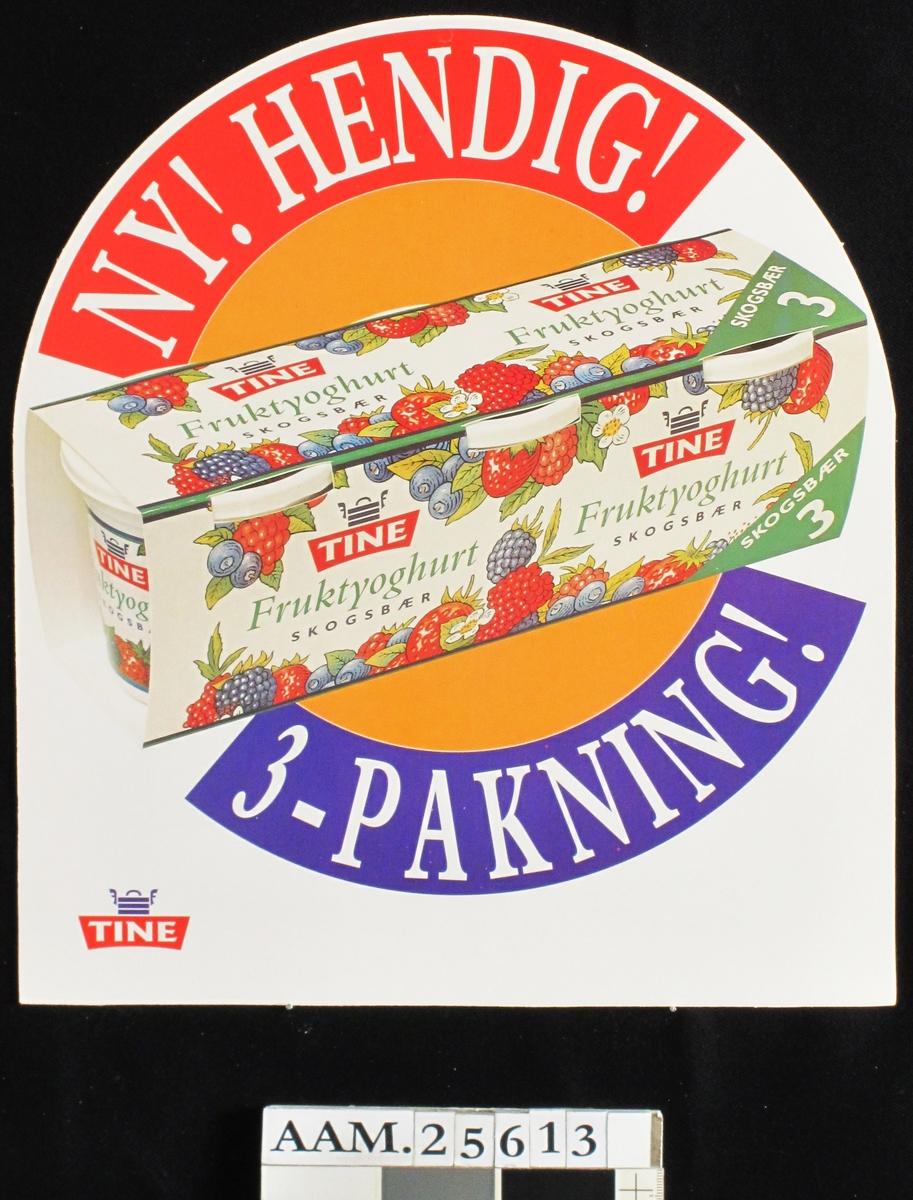 3-pakning fruktyoghurt skogsbær, Tine varemerke