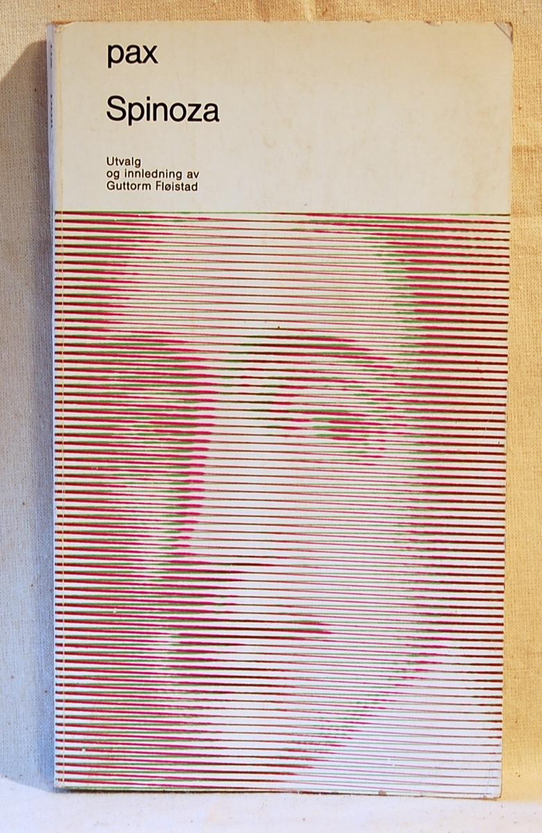 På bokens forside et portrett av Spinoza