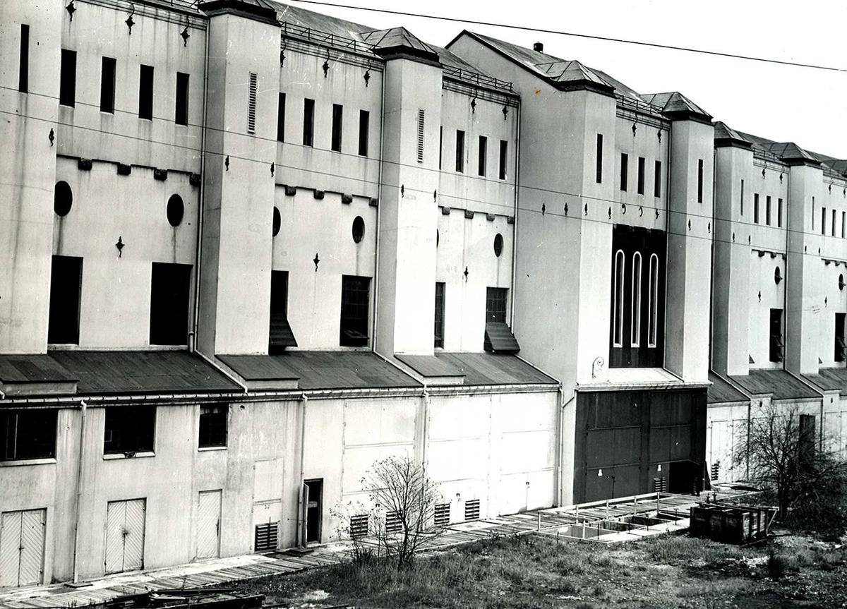 Nitriden. Nitriden. Fasade sør, Omformerstasjonen. Her også med byggetrinn II.