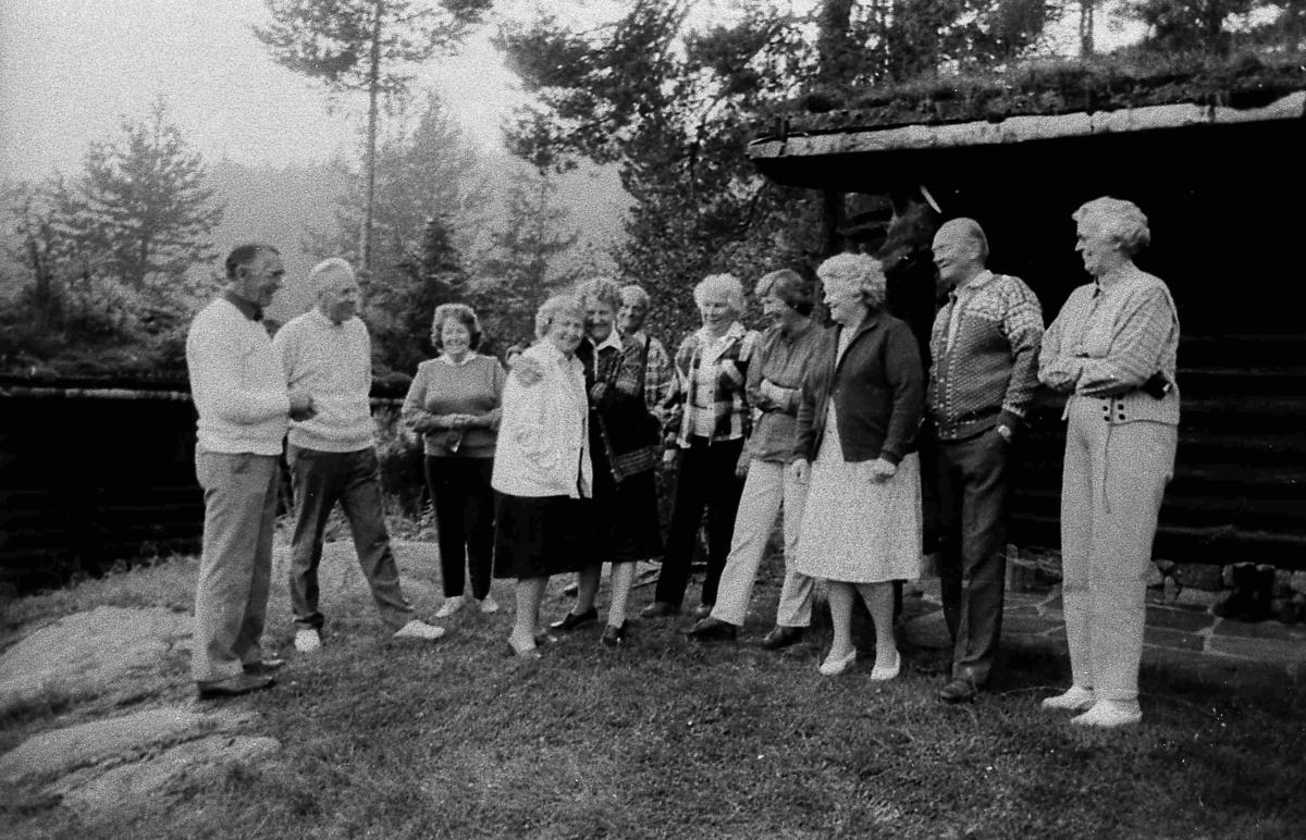 Bilder fra Birkenes kommune Kameraklubben på tur - ca 1990