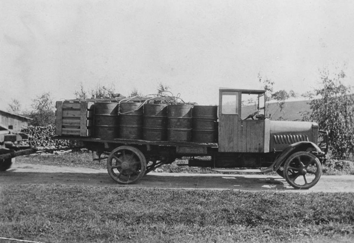 Transport av transformator på lastebil