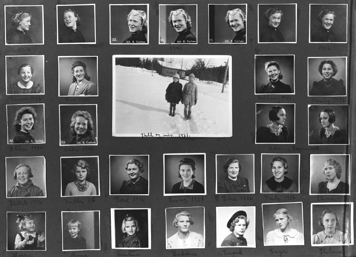 Polyfoto av Aase Myrvold og venninner