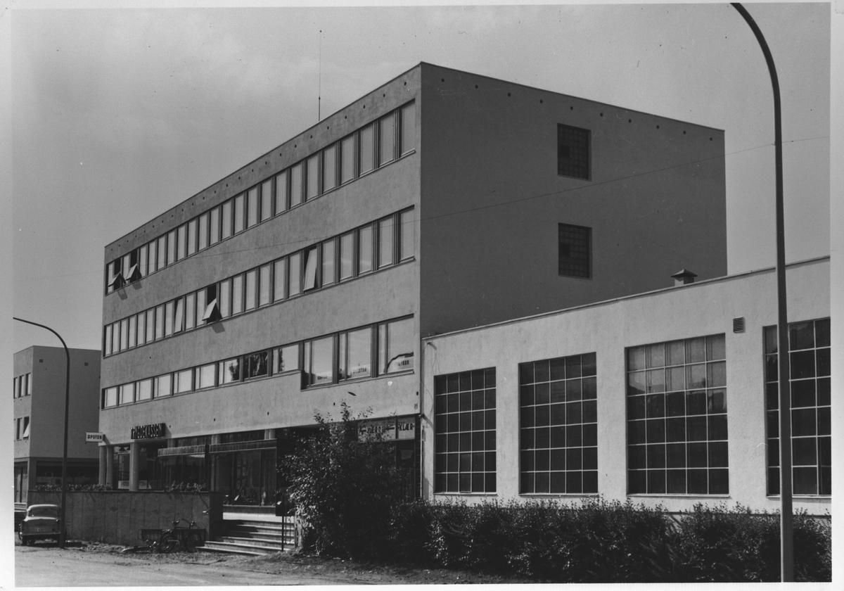 Trygdekassens nye bygning i Nittedalsgata.
