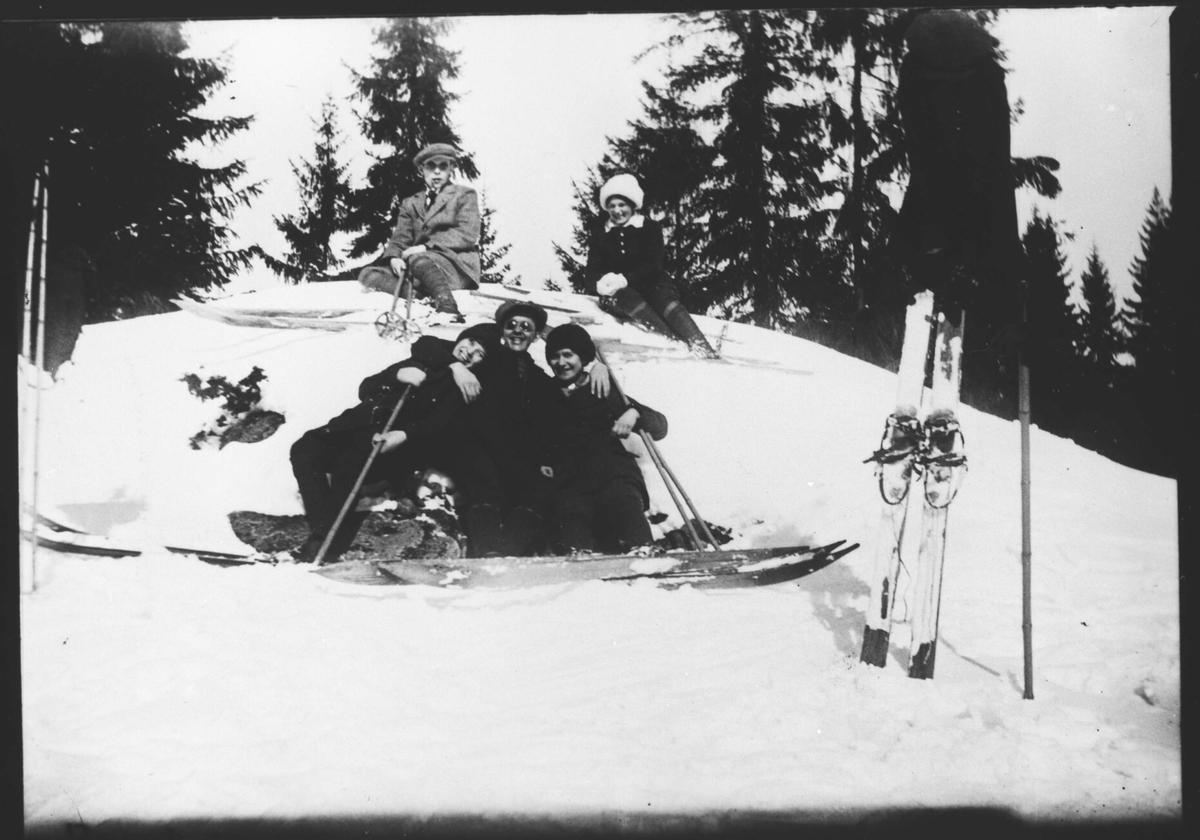 Påsketur, Skjettenkollen 1915.