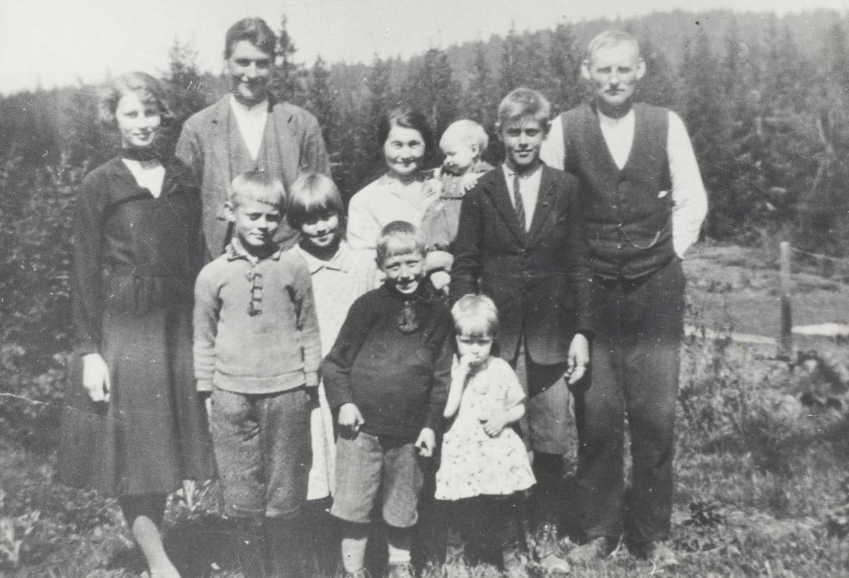 Familiebilde på Nygård 1931