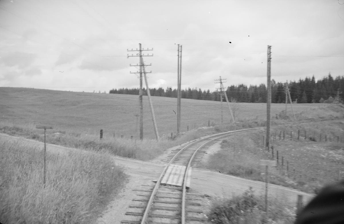 Oversiktsbilde fra Harkerudbakken, tatt fra toget