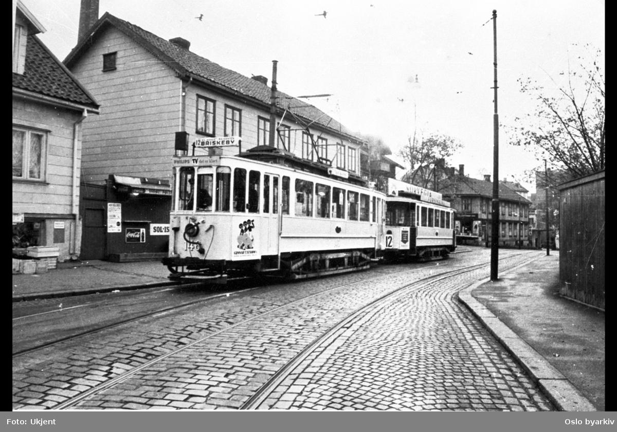 Kampen-trikken i Brinken før den ble nedlagt i 1960