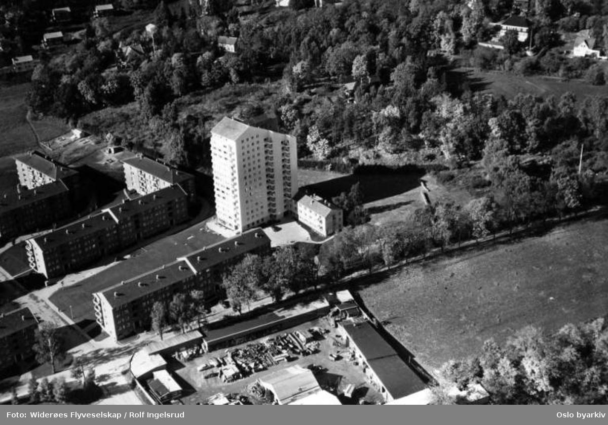 Hoff, Hoffalleen, Hoff gård, Hoff terrasse (Flyfoto)