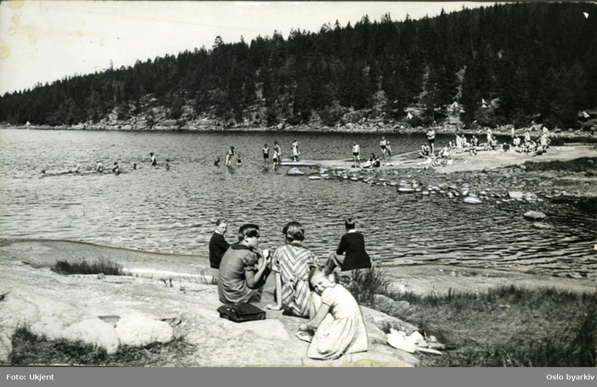 Bad og friluftsliv ved Bunnefjordens østre side.