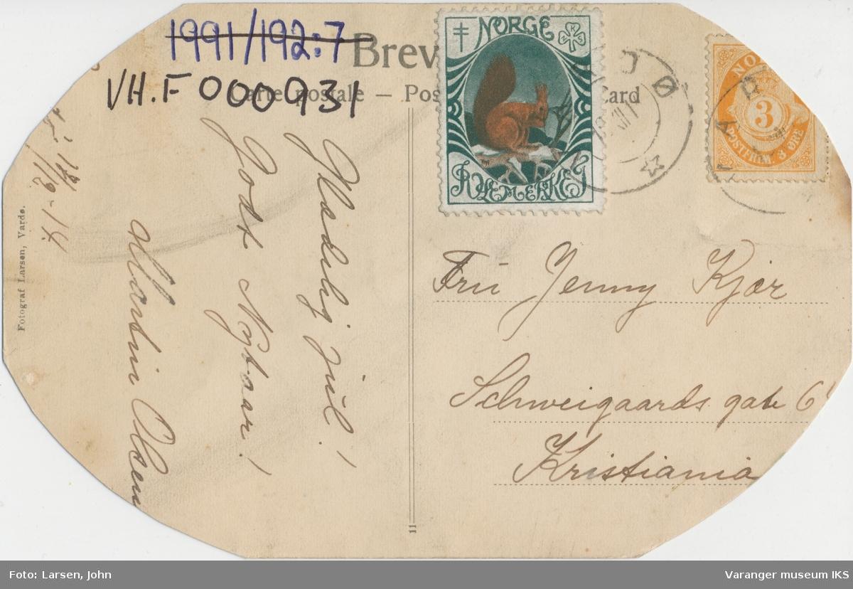 Postkort, Vardø sett fra Domen, ca. 1900