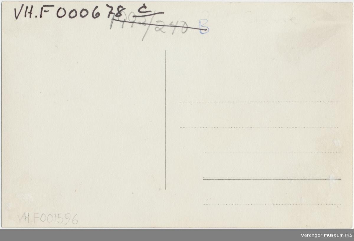Postkort, Nordre Våg og Valen, sett fra radiomastene, antatt 1934