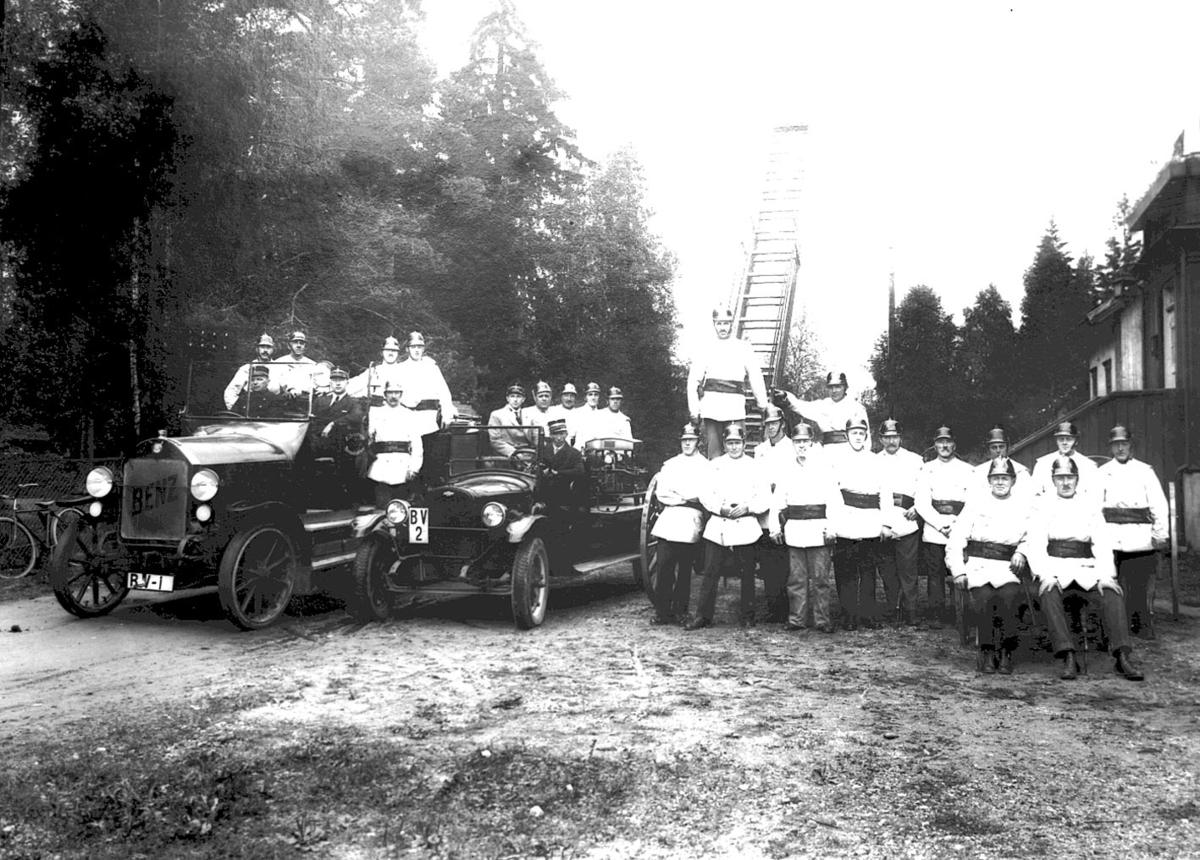 Brannkorpset med bilene-Repro