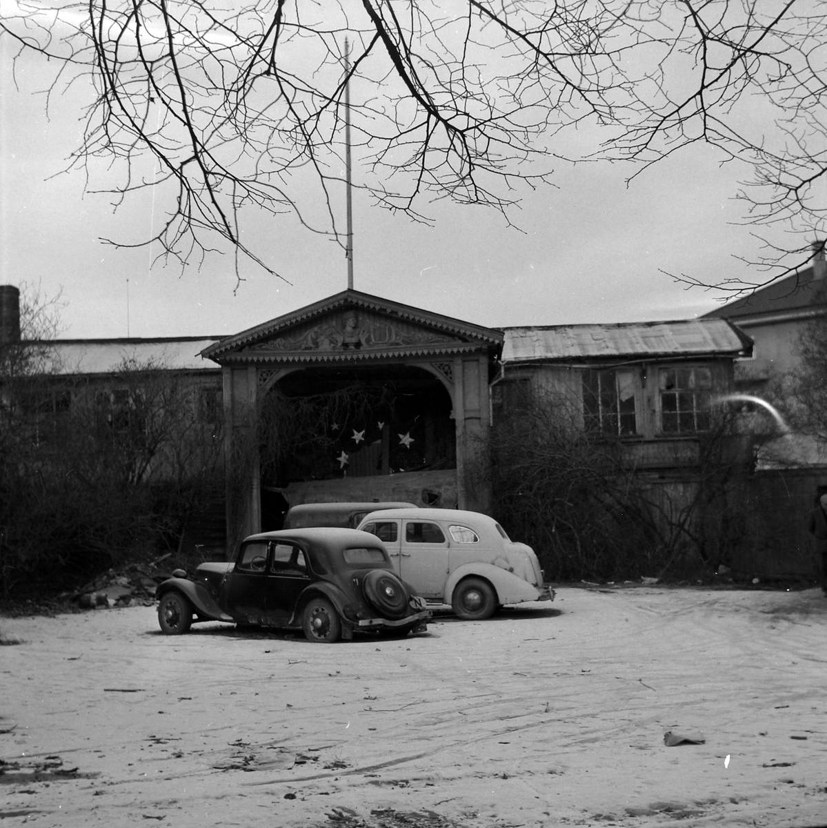 Scenen fra det gamle friluftsteater Hjorten i Ila.