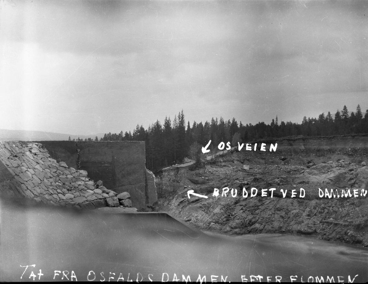 Osfallsdammen etter flommen 1916