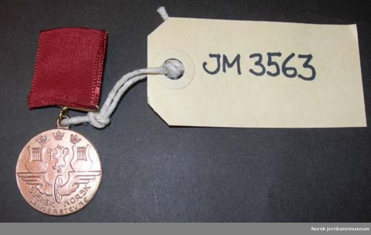 Medalje - deltakermedalje fra svensk-norsk sangerstevne i Bergen 1939