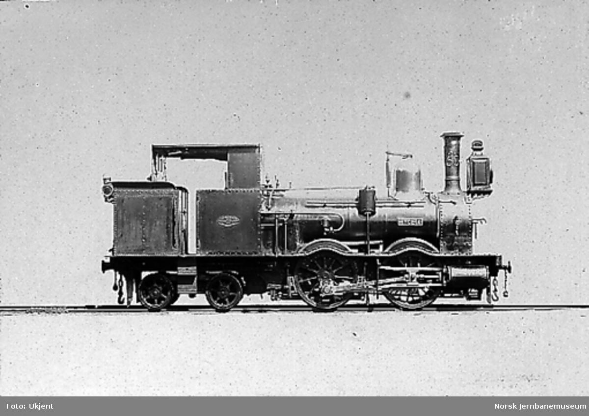 "Damplokomotiv type VI nr. 50 ""Hygeia"""