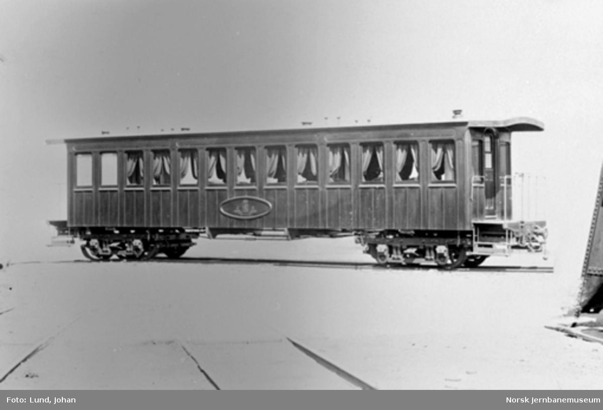 Vestfoldbanens kongevogn, trolig som ny