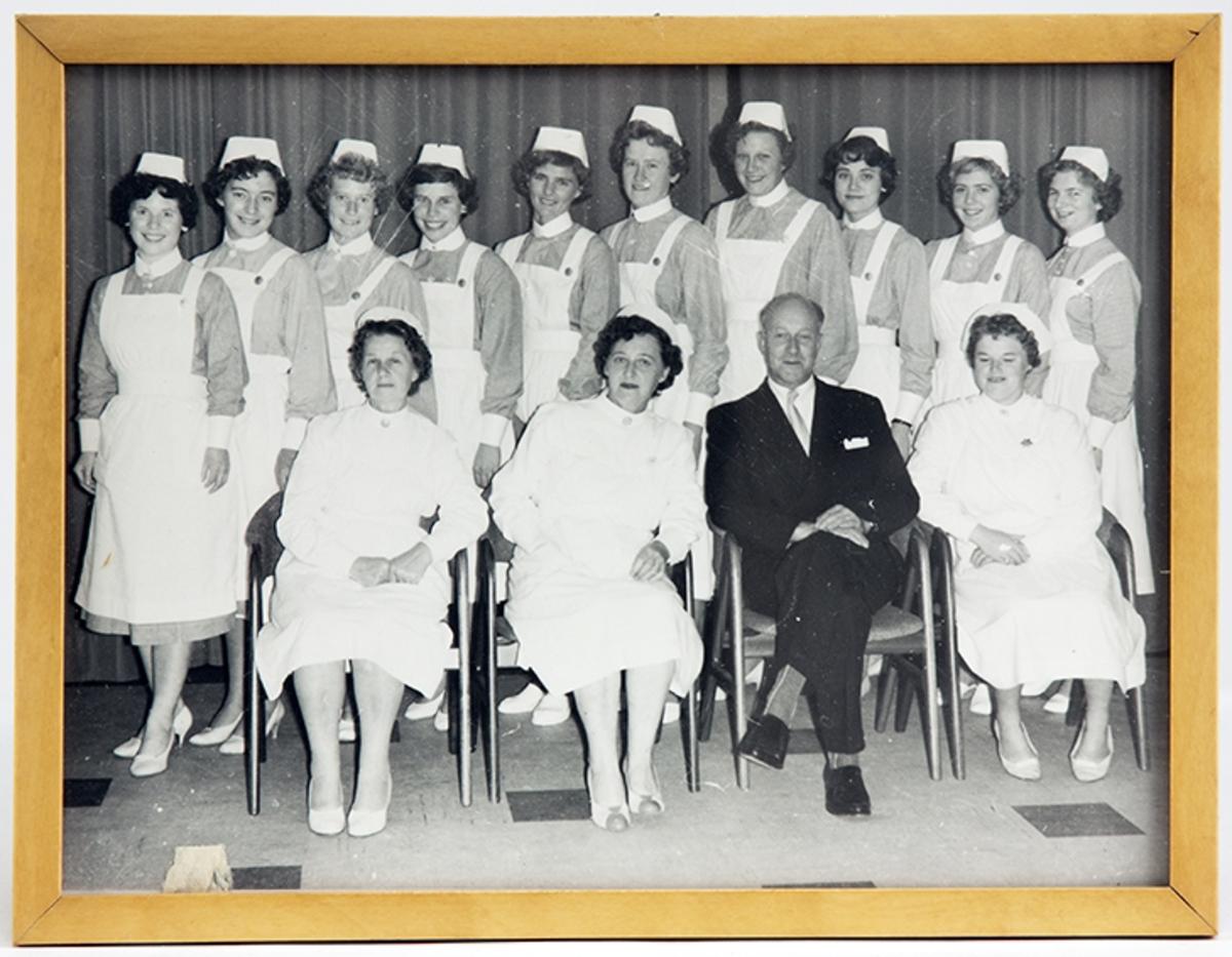 Drøbak Sykestue- og fødehjem. Eksamensfest 1960.