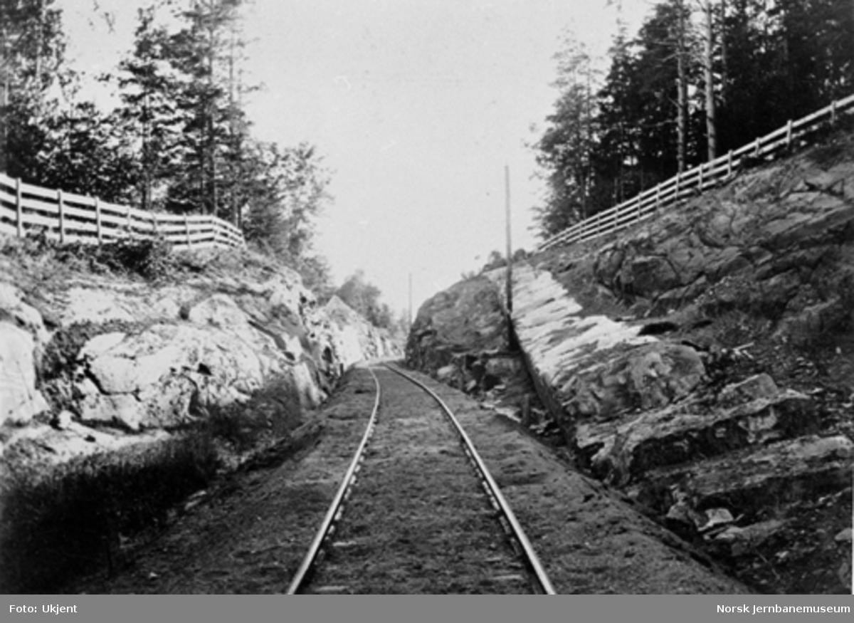 Blommenholmskjæringen, sett vestover (km 11,00)