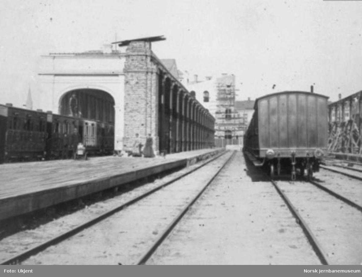 Utvidelse og nybygging av Østbanen pågår; den nye toghallen skal bygges