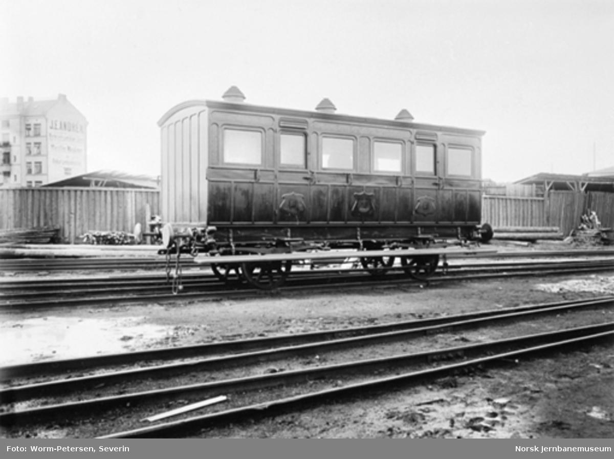Kongsvingerbanens kongevogn litra A i Oslo