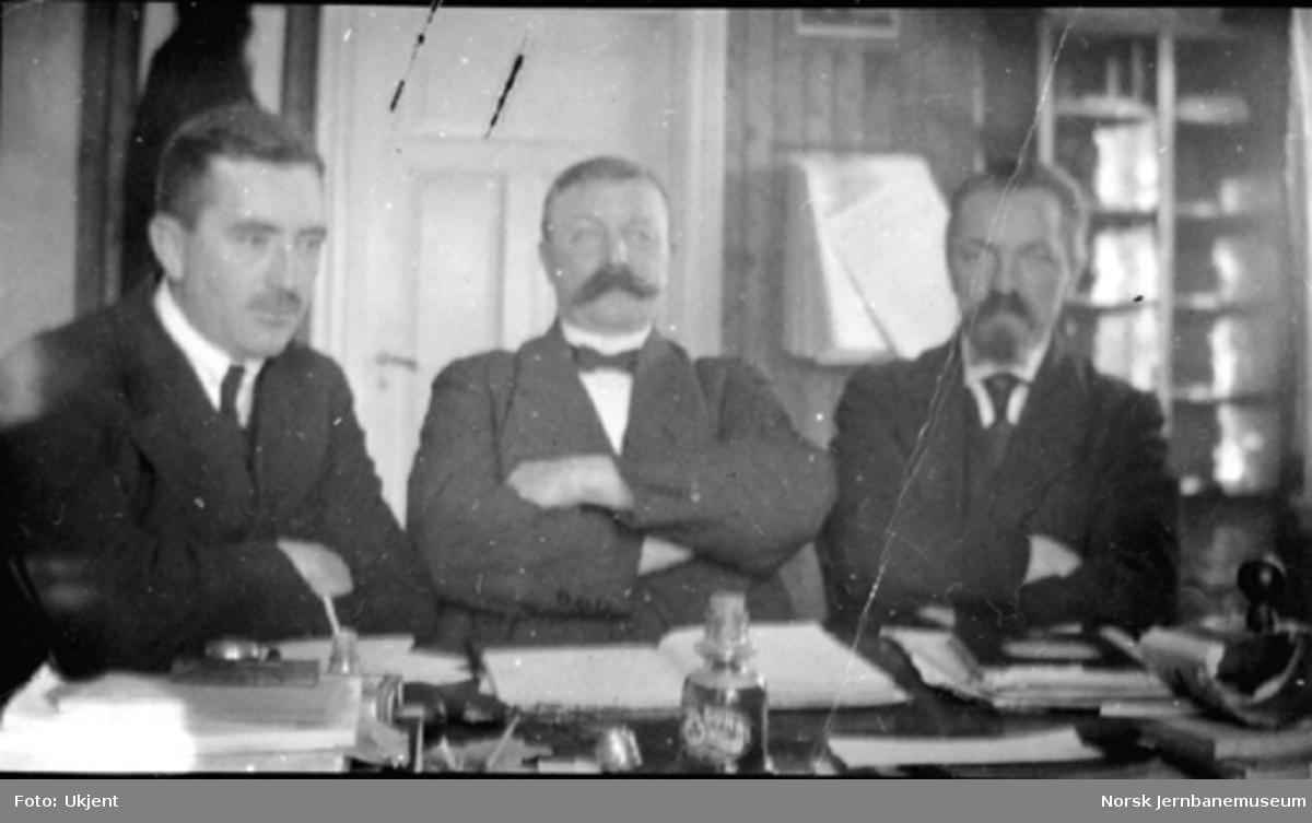 Streikeformann, sekretær og redaktør i Glåmdalen ved streiken i 1920, trolig på Kongsvinger