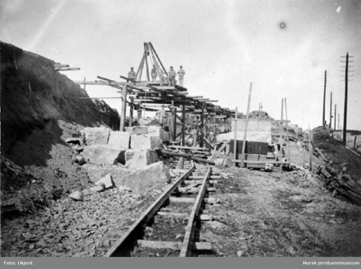 Bygging av undergang for godssporet til Alnabru