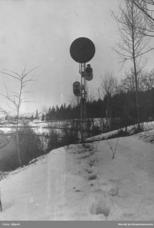 Roa stasjon : forsignal for innkjør