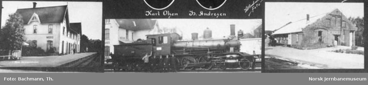 Fotomontasje med personalet på Moss stasjon
