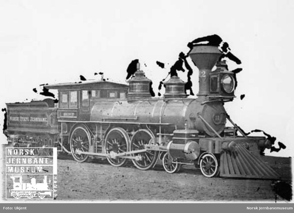 Leveransefoto av damplokomotiv type 14a nr. 12