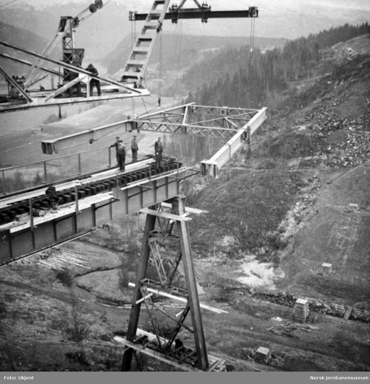 Trolldalen viadukt under bygging : pilar 3