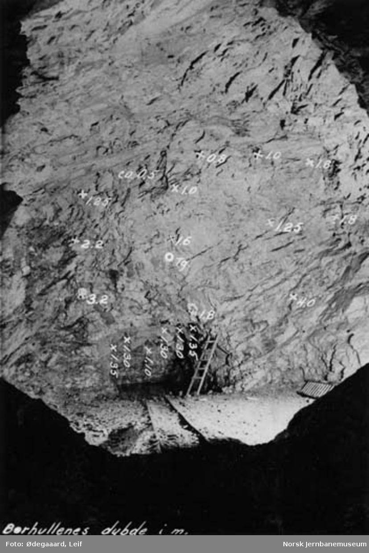 Tyholttunnelen : demonteringskammeret med veggen ut mot jordvollen