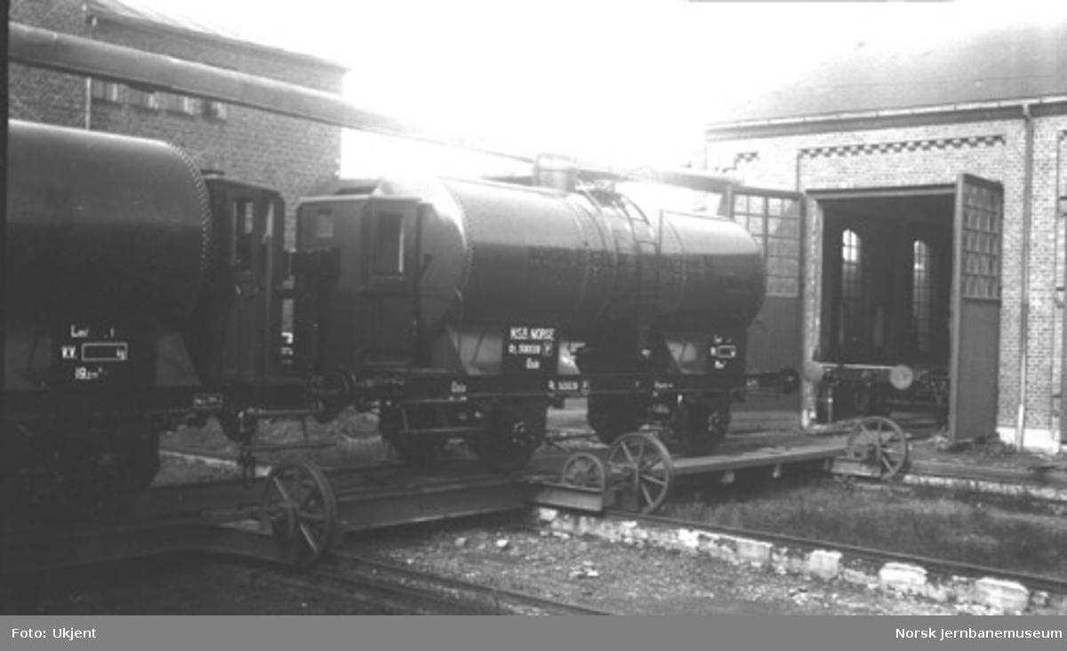 Tankvogn litra Qf4 nr. 500039 bygget til Norsk-Engelsk Mineralolje