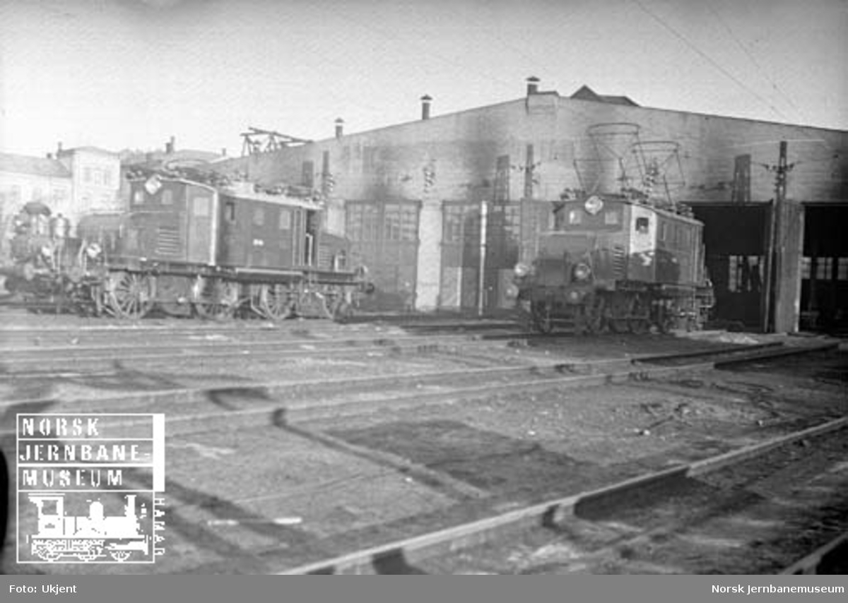 Filipstad lokomotivstall med El 1-lokomotiver