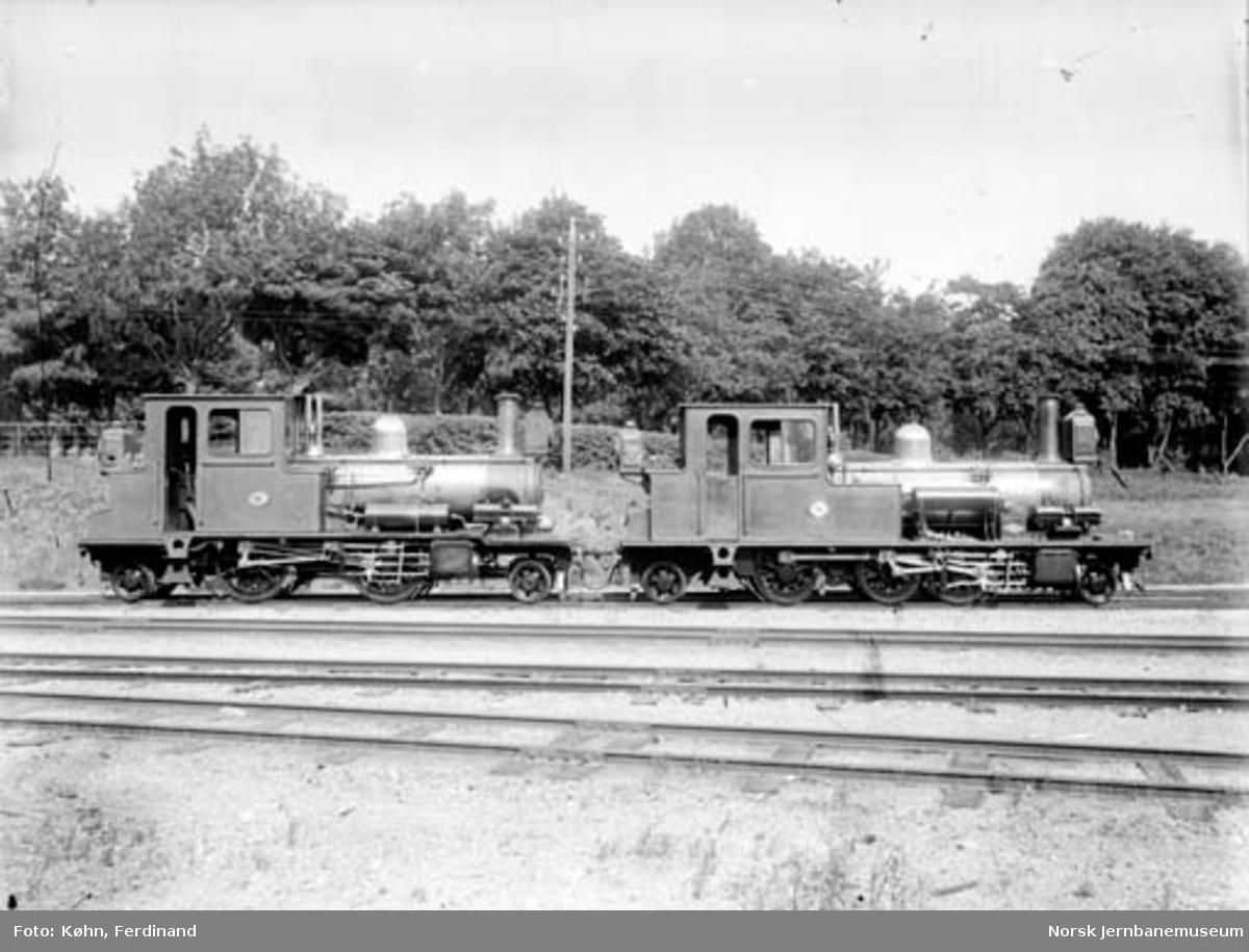 Setesdalsbanens damplokomotiver nr. 1 og 4
